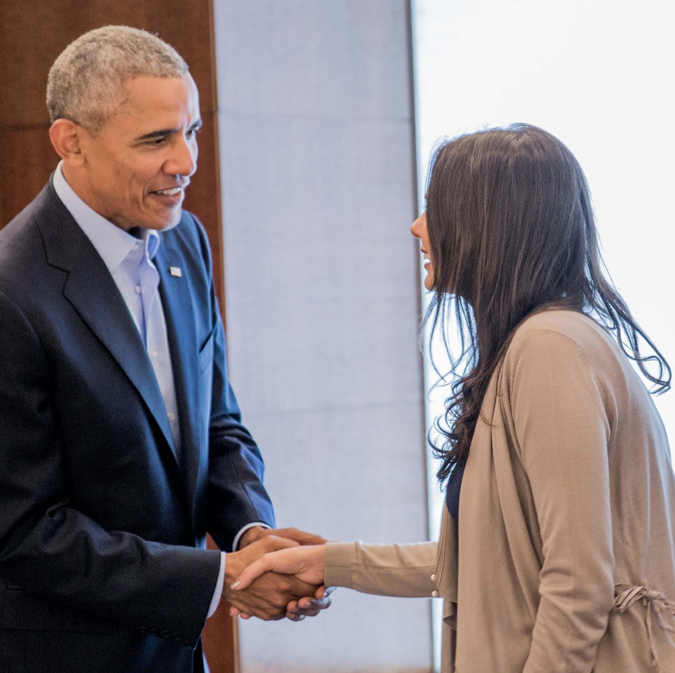 Obama e Lemann Fellow Cassia Moraes