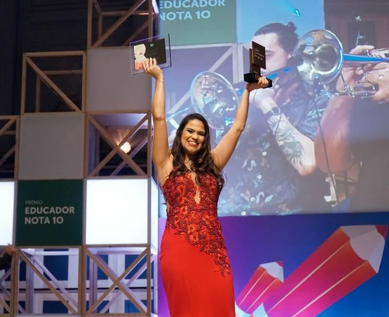 A professora Patricia Barreto foi reconhecida na categoria #EsseProjetoÉ10 do Prêmio Educador Nota 10