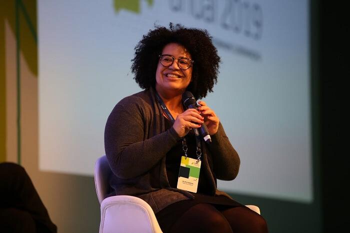 Selma Moreira durante o Encontro Anual de Líderes 2019 da Fundação Lemann