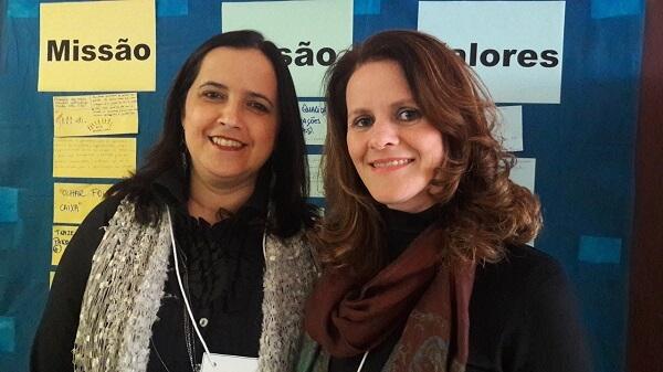 Claudia (à esquerda) e Silvana (à direita) trabalham juntas desde o início dos anos 2000