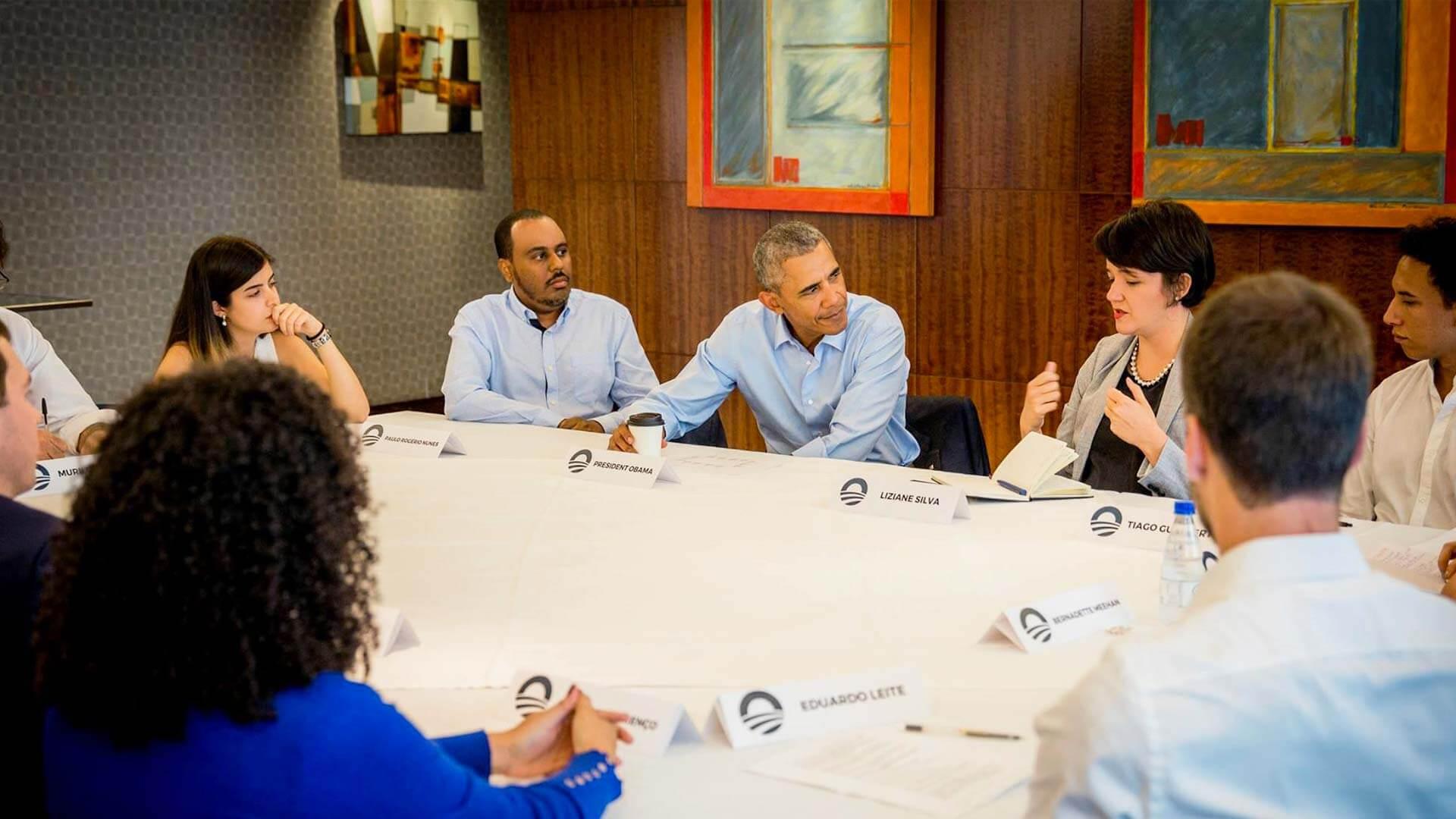 Lemann Fellows têm encontro inspirador com Obama