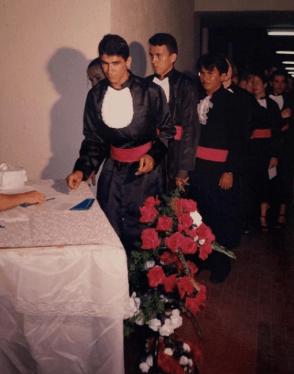 Raimundo durante sua formatura de pedagogia