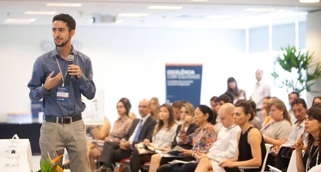 Ernesto durante lançamento do estudo Excelência com Equidade