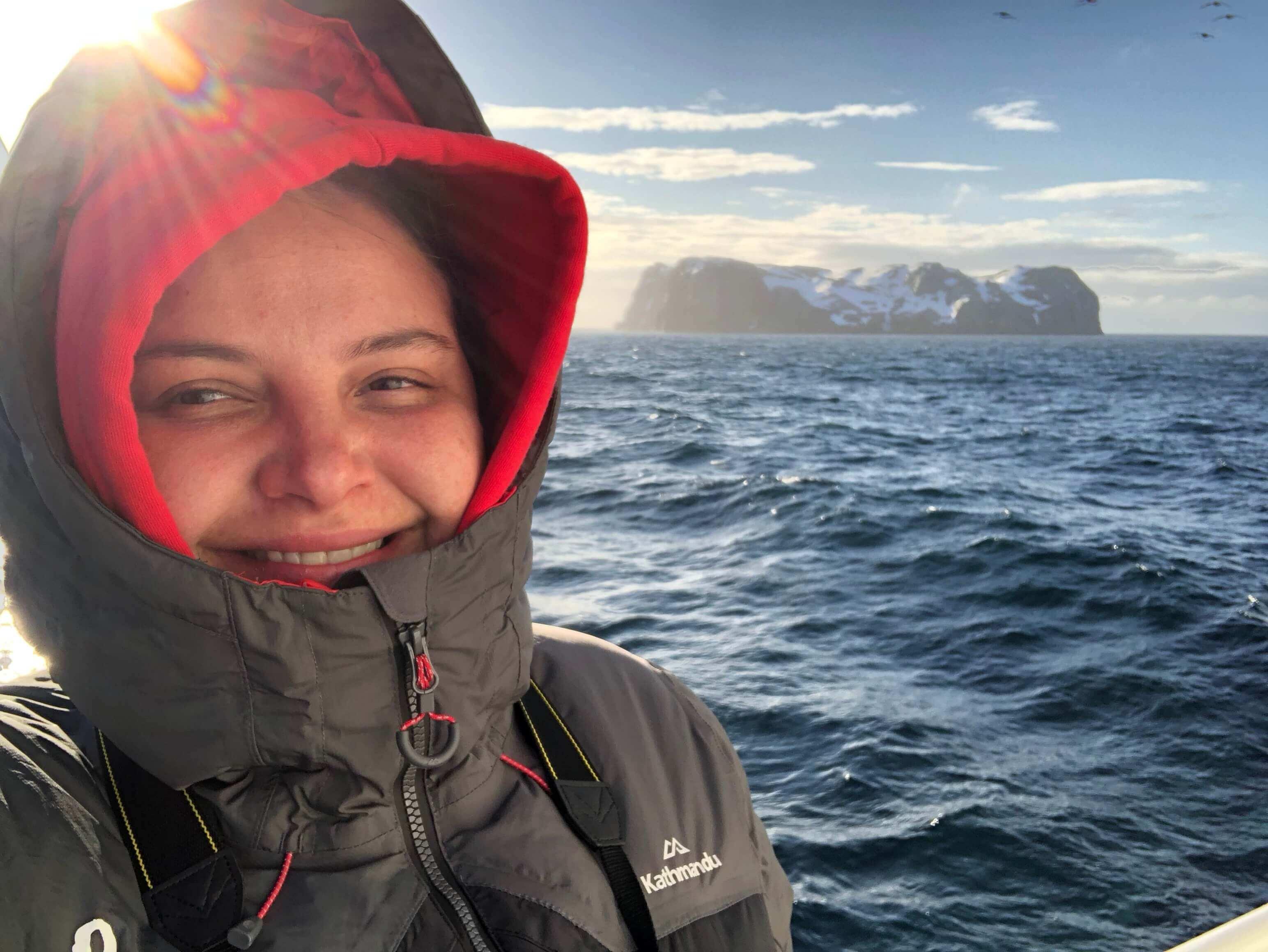 Natalie na Antartida