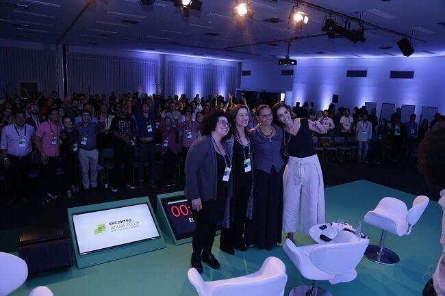 Selma ao lado de Raquel Lyra, Marina Silva e Leticia Lyle no Encontro Anual de Líderes 2019 da Fundação Lemann