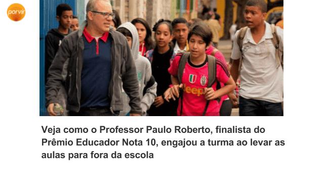 Professor Paulo Roberto Educador Nota 10