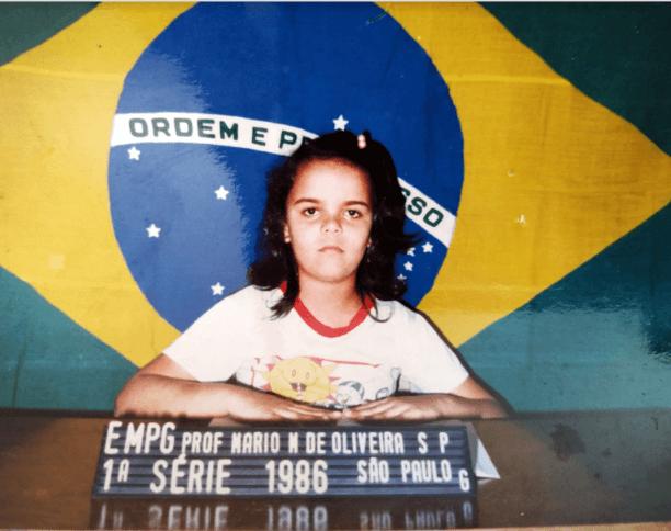 Fabiana Ivo no 1º ano do Ensino Fundamental