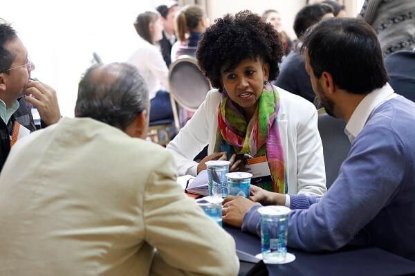 Prof. Gina durante Encontro Anual da rede de líderes da Fundação Lemann